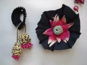 Teile aus einem gefundenen Regenschirm