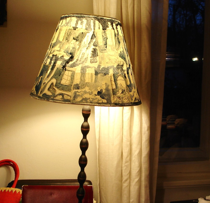 Blaue lampen textile geschichten for Lampen nostalgie
