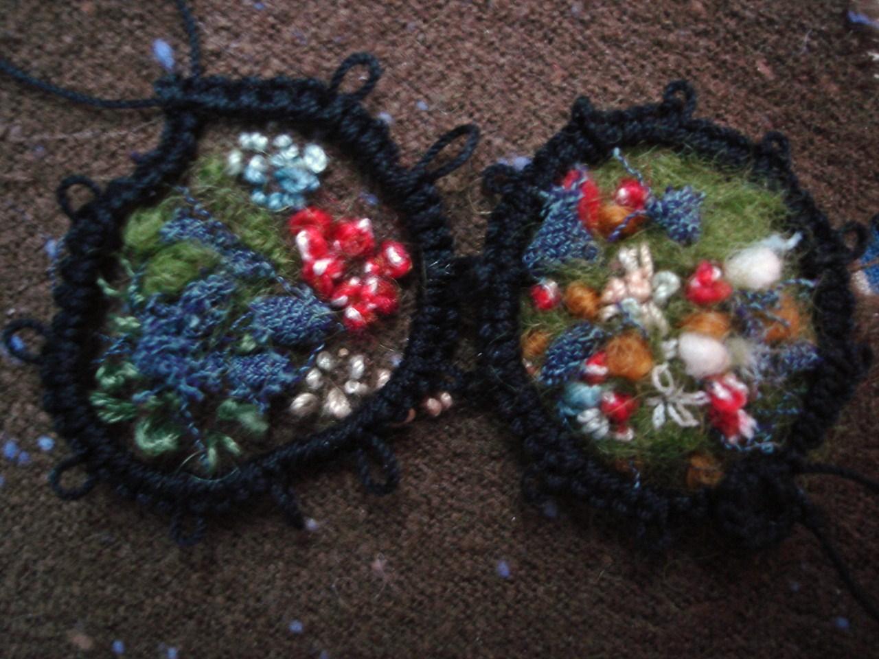Medaillons Textile Geschichten