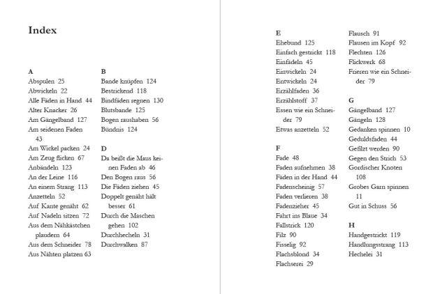 Index Verflixt und Zugenaeht