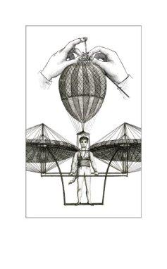 Nadel und Faden Abbildung Ballon