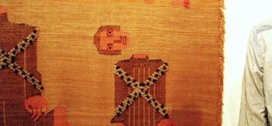 Ausschnitt Teppich Hannah Ryggen, Documenta 2012